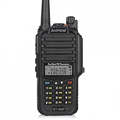 BaoFeng 1 Pack GT-3WP PoFung GT-3WP Dual Band Two-way Radio, Waterproof Dustproof IP67 Walkie Talkie Transceiver, VHF/UHF 136-174/400-520MHz, Black from BaoFeng