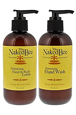 Naked Bee 8oz Moisturizing Hand & Body Lotion and 8oz Hand Soap (2 pack), Natural Personal Care Products