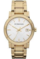 Burberry Watch, Men's Swiss Gold Ion-Plated Stainless Steel Bracelet 38mm BU9003