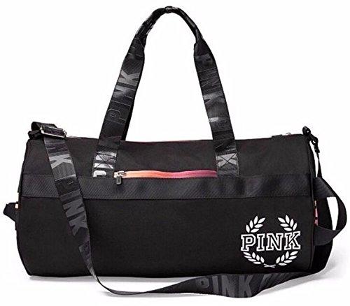 Victoria's Secret PINK Gym Duffle Tote Bag (Black Gradient)