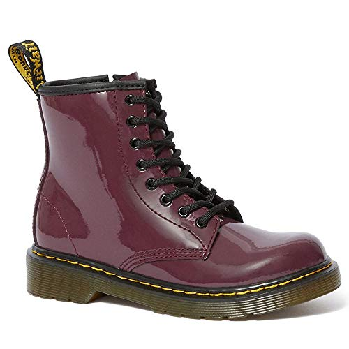 Dr. Martens Kid's Collection Girl's 1460 Patent Junior Boot (Little Kid/Big Kid) (3 M UK, Plum Patent Lamper) -