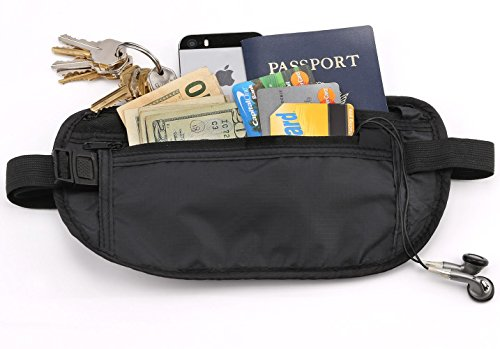 Cuzail RFID Protected Travel Wallet - Money Belt & Passport Holder