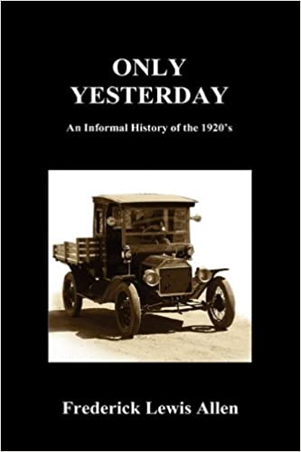 1920s Fashion Books, 20s Fashion History Only Yesterday (Hardcover)  AT vintagedancer.com