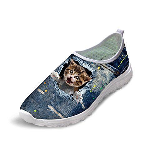Cheap Bigcardesigns Cat Women's Slip On Casual Athletic Walking Running Shoes 39