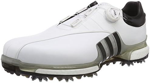 ゴルフシューズ ツアー360 EQT ボア メンズ ホワイト/シルバーメタリック/コアブラック 27.5 cm