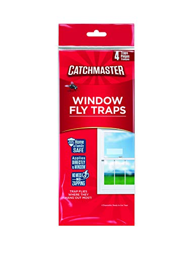 Yellow Master Gold - Catchmaster 904 Bug & Fly Clear Window Fly Traps - 3 Packs of 4 Traps