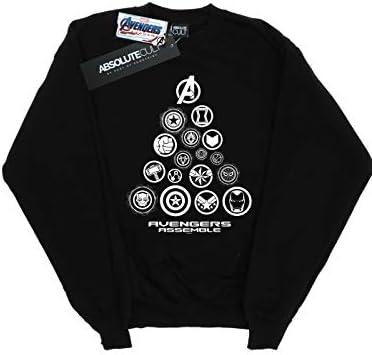 Marvel Herren Avengers Endgame Pyramid Icons Sweatshirt Schwarz Large