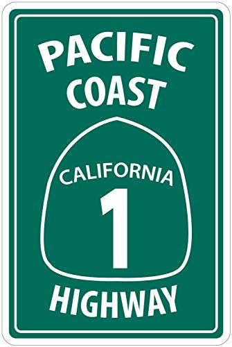 Lilyanaen New Tin Sign Pacific Coast Highway California for sale  Delivered anywhere in USA