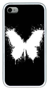 IMARTCASE iPhone 4S Case, Abstract Artistic Butterfly Case for Apple iPhone 4S/5 TPU - White by lolosakes by lolosakes