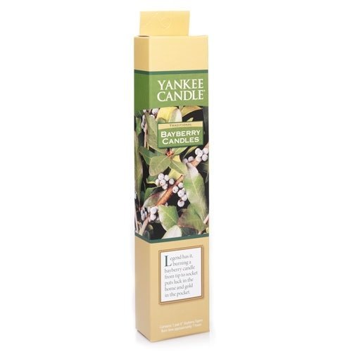 Bayberry Candle (Yankee Candle Company Natural Bayberry Taper Candle PAIR)