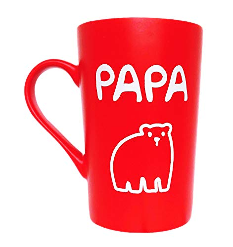 Gifts Holiday Mug - MAUAG Funny Fathers Day Gifts PAPA Bear Coffee Mug Christmas Gifts, Best Birthday and Holiday Gift from Daughter or Son Inspirational Cup for Dad Father, White 12 Oz