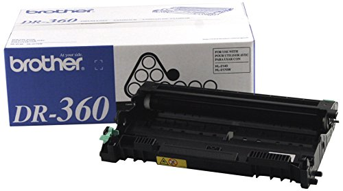 Drum Unit Printer Cartridges - Brother Genuine Drum Unit, DR360, Seamless Integration, Yields Up to 12,000 Pages, Black