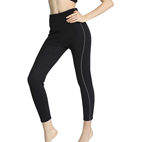 superstrech Neoprene Hot Pants Anti-Cellulite Thermo Sweat Slimming Pants for Body Shaper and Weight Loss (Grey-Long Pants, 2XL)