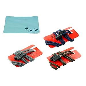 Gorilla Grips Rope Eyewear Retainer Sunglass Strap | Adjustable Eyeglass & Sports Glasses Holder Keeper Lanyard | 3pk Bundle + Cloth, Solid Multi Pack
