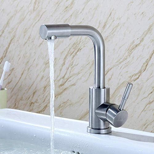 Zxyan 蛇口 立体水栓 蛇口ステンレス鋼温水と冷水の蛇口浴室の浴室の蛇口ステンレス鋼流域の蛇口 トイレ/キッチン用