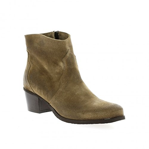 Pao Boots Cuir Velours Taupe Beige 7xHSr