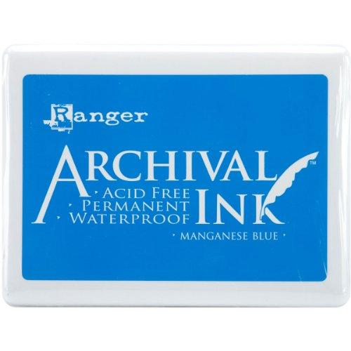 Ranger A3P-30539 Archival No.3 Jumbo Inkpad, Manganese Blue