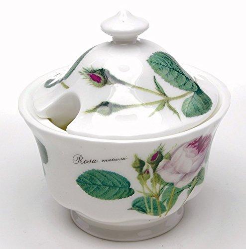 Roy Kirkham Redoute Rose Sugar Bowl (Spoon Not - Bowl Sugar Rose