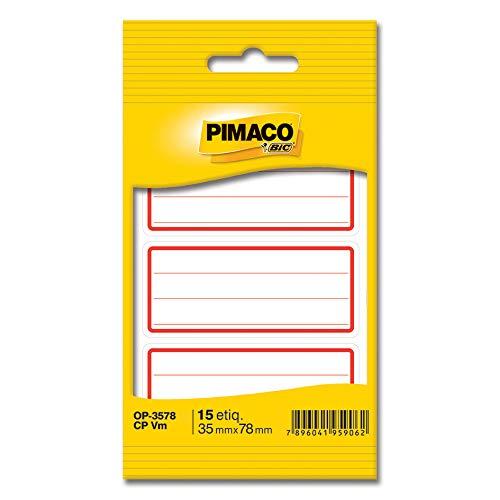 Etiqueta Adesiva, BIC, 886621, Vermelho, pacote de 5