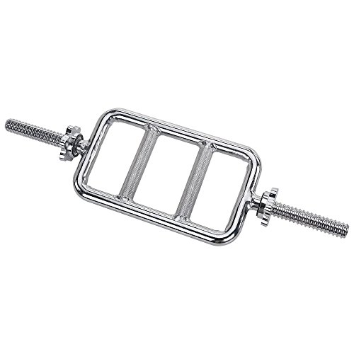 Sunny Health & Fitness 24 in. Threaded Solid Chrome Tricep Bar