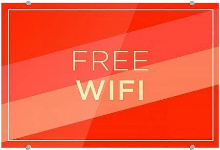 CGSignLab 27x18 Free WiFi Modern Diagonal Premium Brushed Aluminum Sign