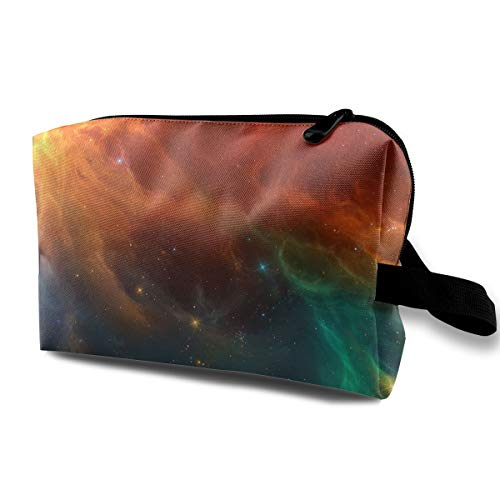 Qbao Starry Sky Galaxy Unisex Travel Cosmetic Bag Portable Makeup Case & Organizer Toiletry Pouch