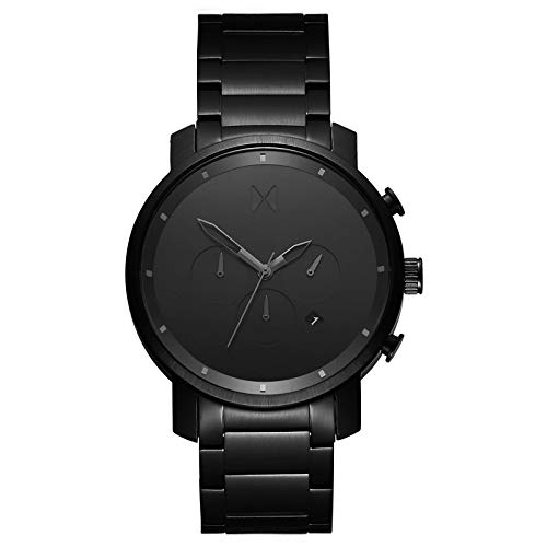 MVMT Chrono Watches | 45 MM Men's Analog Watch Chronograph | Stainless Steel (Black Link) ()