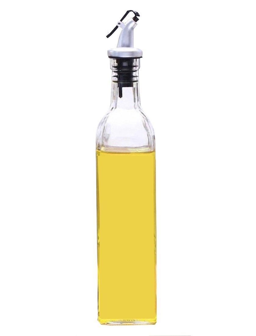 KISCHERS Oil Bottle, Vinegar Bottles, Glass Cruet Olive Oil Dispenser for Cooking (500 ML)