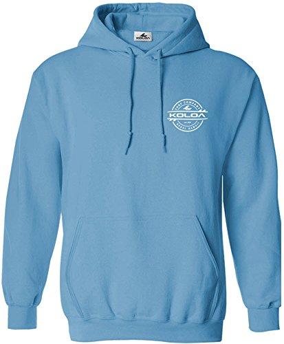(Koloa Surf Thruster Surfboard Logo Hoodie-Hooded Sweatshirt-Aquatic/w-XL)