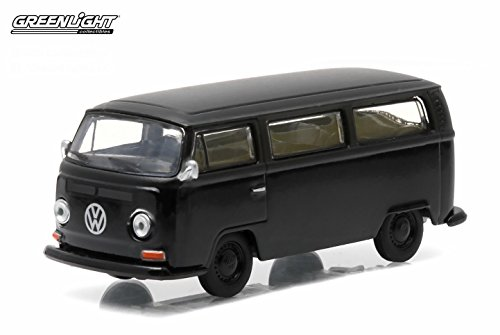 2 BUS * Black Bandit Collection Series 12 * 2015 Greenlight Collectibles Limited Edition 1:64 Scale Die-Cast Vehicle (Volkswagen Truck Bus)