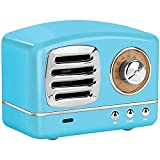 Retro Radio Design Bluetooth Speaker w/Clear Sound and High-Def Microphone