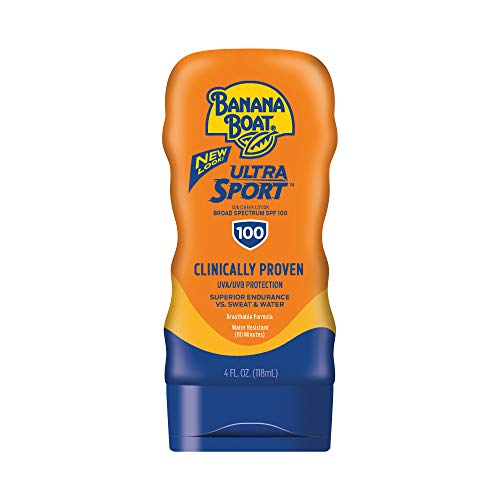 Banana Boat Ultra Sport Sunscreen Lotion, New Formula, SPF 100, 4 Ounces (Pack of 2) ()