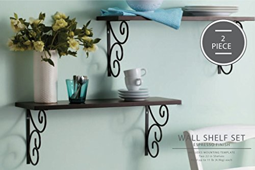 AHDECOR Decorative Wall Mounted Floating Shelves with for sale  Delivered anywhere in Canada
