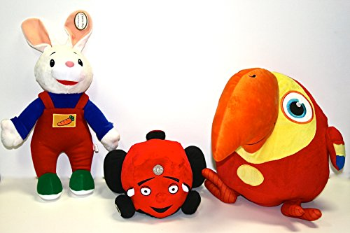 Baby First TV - Plush Set - Harry the Bunny, Tec the Tractor and VocabuLarry - PERFECT BIRTHDAY (Baby First Tv Characters)