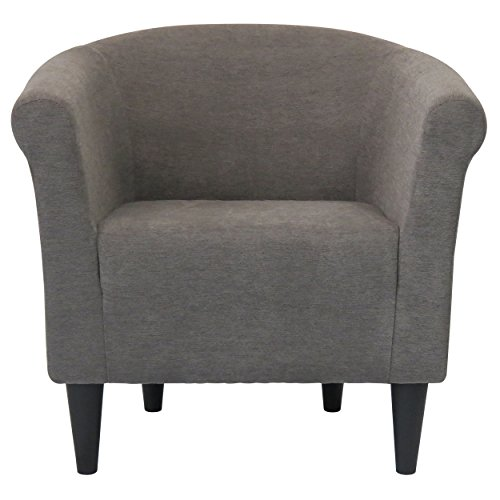 modern barrel chair chic contemporary accent furniture living room bedroom seat for home graphite - Chair For Bedroom