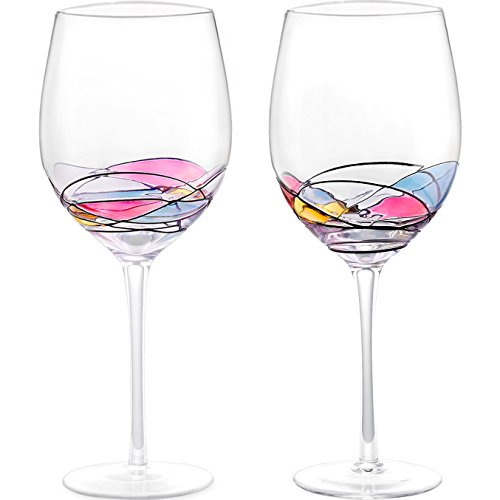 Wine Glass - LAMIGA Unique Hand Painted Gifts for Women, ...