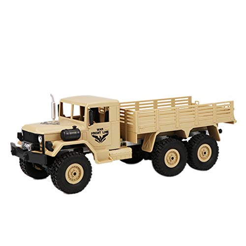 Remote Control Military Truck, Inkach Off-Road Army RC Car 2.4Ghz 1 :16 4WD RTR Controller Electric Transport Trucks Vehicle (Yellow)
