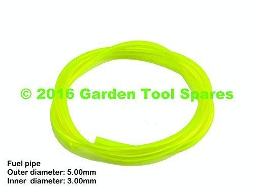 YELLOW FUEL PETROL PIPE 3.0MM ID 5.0MM OD 1M STRIMMER CHAINSAW LAWNMOWER HEDGE TRIMMER
