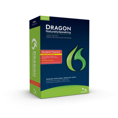 Picture of a Dragon NaturallySpeaking Legal 12 StudentTeacher 780420125995,7804201259952