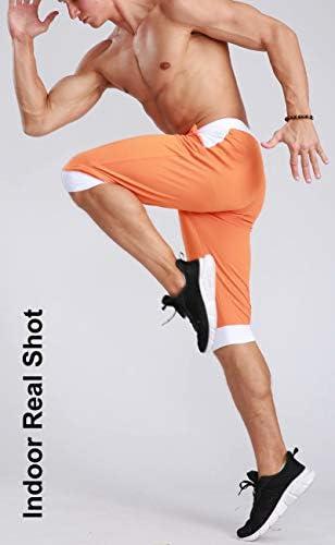 MAGCOMSEN Men's Joggers Workout Gym Running Mesh Shorts Quick Dry Lightweight Below Knee Sweatpants 6