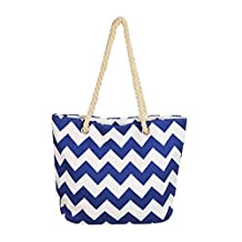 Haolong Multi-Purpose Large Striped Canvas Tote Shoulder Bag Handbag Beach Bag