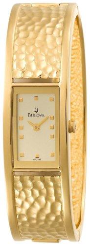 Bulova Women s 97L108 Cuff Champagne Dial Watch