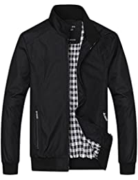 Men's Active Lightweight Softshell Zipper Bomber Jacket