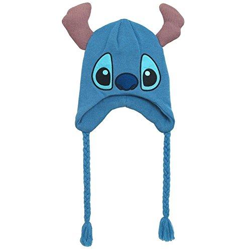 Acrylic Peruvian Hat - Disney Men's Stitch Winter Hat with Ears, 100% Peruvian Acrylic Knit, Royal, One Size