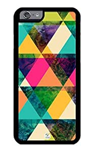 iZERCASE iPhone 6 Case Colorful Triangles Pattern RUBBER CASE - Fits iPhone 6 T-Mobile, Verizon, AT&T, Sprint and International