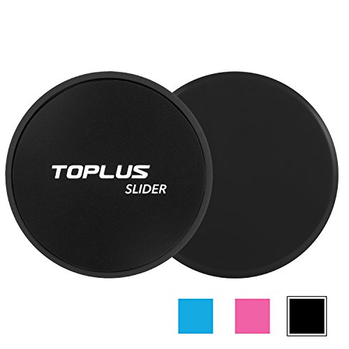 TOPLUS Gliding Discs Core Sliders, Abdominal Exercise Equipment, Dual Sided for Carpet or Hard Floors