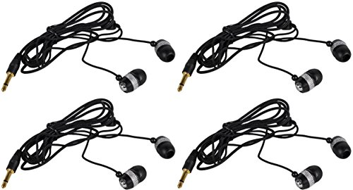 4) Peavey ALS Ear Buds for Assisted Listing System Replacement Standard Ear Buds by Peavey