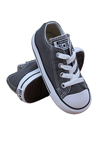 08b48978382589 Galleon - Converse Kids Unisex Chuck Taylor All Star Core Ox (Infant Toddler)  Charcoal Sneaker 7 M US Toddler