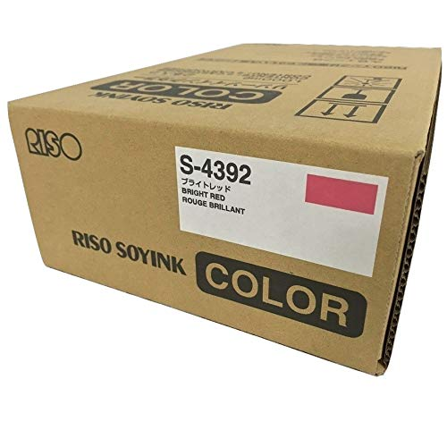 2 Riso S-4392 Bright Red Ink, for Risograph FR, GR, RA, RC, RN, and RP Series duplicators. ()