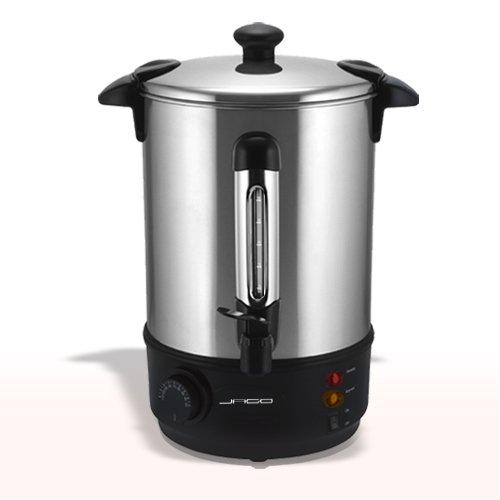 Jago Glühweinkocher aus Edelstahl 6,8 l, Wasserkocher 2000 W SGS GS geprüft